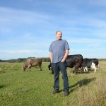 Edward Sawicki and a few of his cows. Image by Dimiter Kenarov