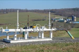 Gas infrastructure in Bradford County, Pennsylvania. (Image: Dimiter Kenarov)