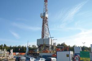 Shale gas drilling pad in northern Poland. (Image: Dimiter Kenarov)