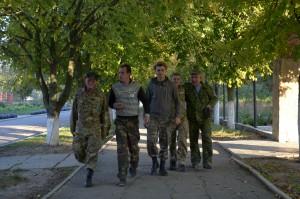 Ukrainian soldiers stationed at Askania-Nova. Photo by: Dimiter Kenarov